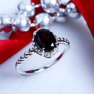 """Кольцо Teosa серебро с родием, гранат фианит, """"halo"""" R-DRGR00738-GR, фото 3"""