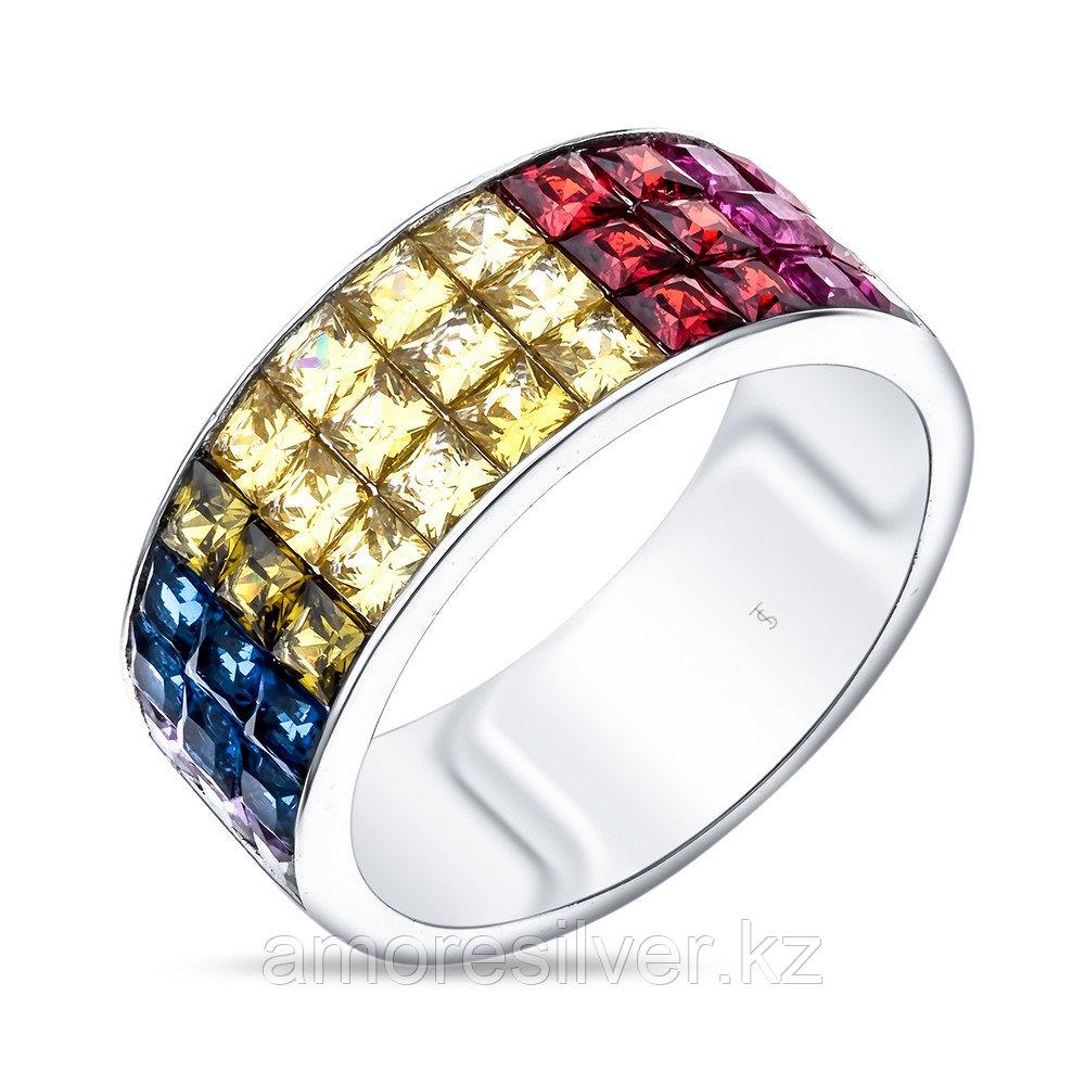 Серебряное кольцо с кубическим цирконом   TEO SANTINI TS26870-R-QC размеры - 19