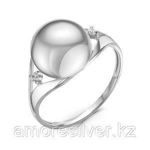 Кольцо Delta серебро с родием, фианит, круг с116884