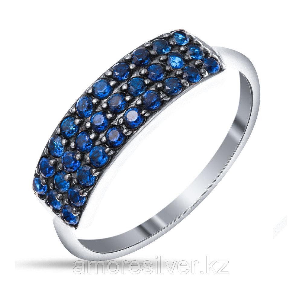 Кольцо Prestige серебро с родием, фианит цветной, дорожка 01509с