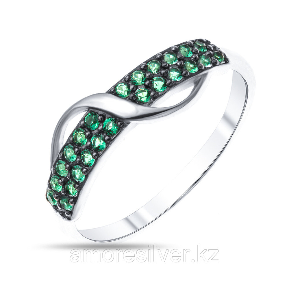 Кольцо Prestige серебро с родием, дорожка 01513с
