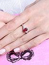 Кольцо из серебра с рубином и топазом белым   Teosa R-DRGR00507-RB, фото 2