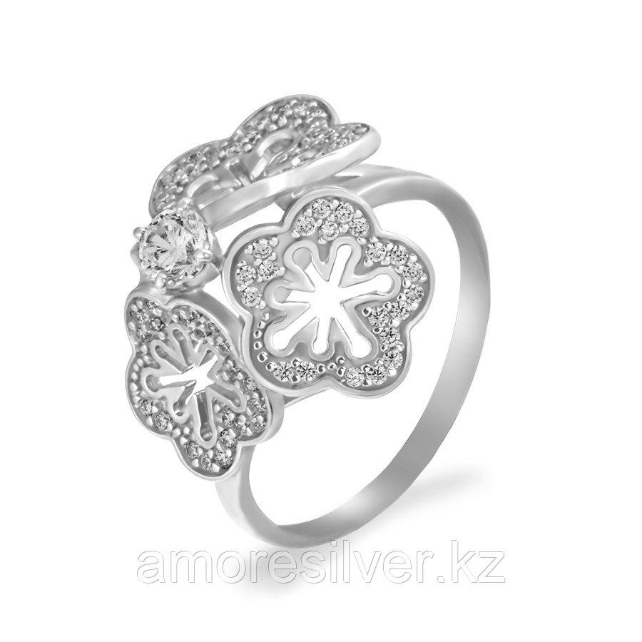 Кольцо Красносельский Ювелирпром серебро с родием, фианит, флора 3207004186Л