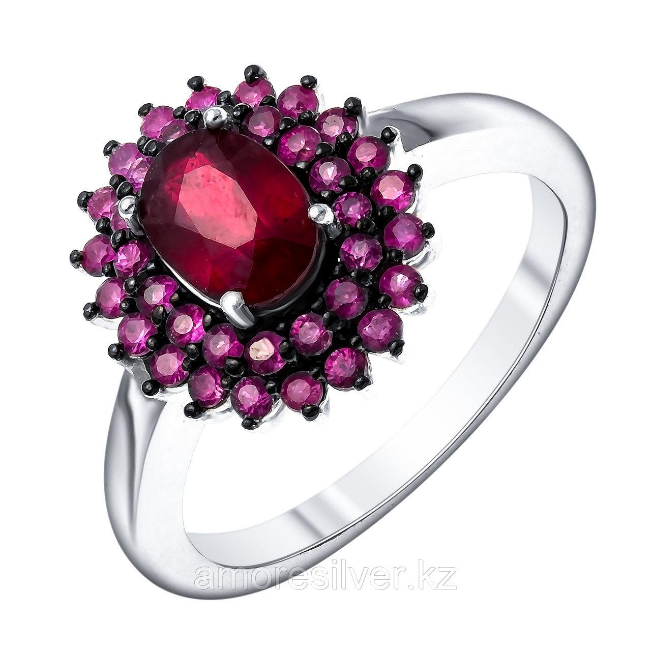 Серебряное кольцо с рубином  Teosa R-DRGR00911-RB размеры - 17 18 18,5
