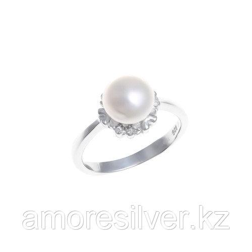 "Кольцо Teosa серебро с родием, жемчуг фианит, ""halo"" PRLBR156-W"