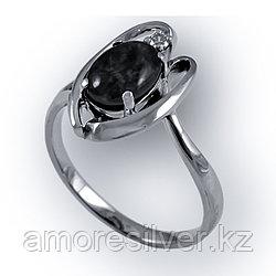 Кольцо  серебро с родием, авантюрин фианит, овал 211218 размеры - 17
