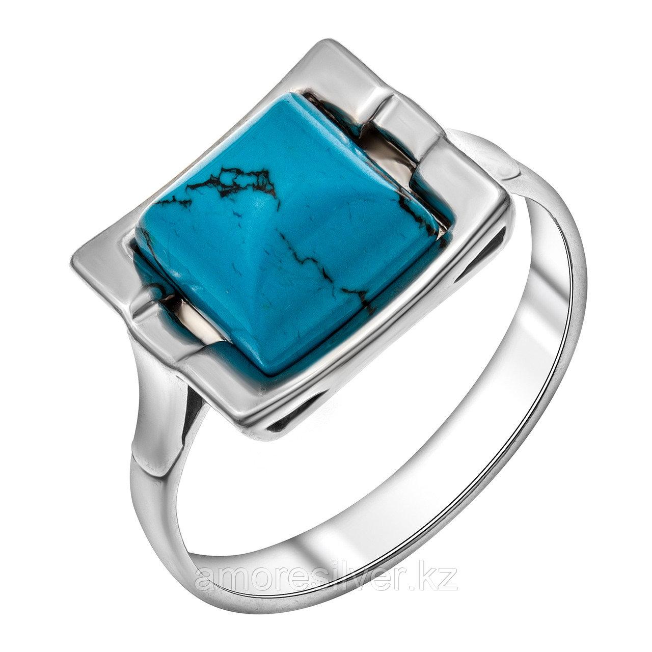 Кольцо Darvin серебро с родием, бирюза синт., , квадрат 920071002aa размеры - 17,5