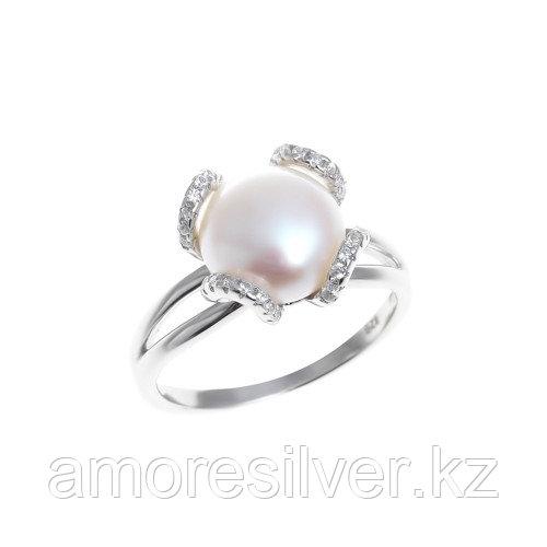 Кольцо Teosa серебро с родием, фианит, флора PRLBR315-W