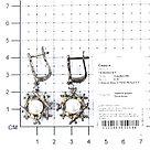 Серьги TEO SANTINI , жемчуг топаз белый, флора TSYE00824-E-P, фото 3