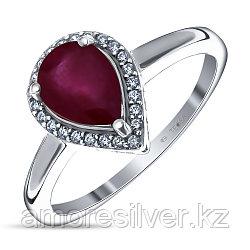 """Кольцо Teosa серебро с родием, рубин фианит, """"halo"""" R-DRGR00680-RB"""