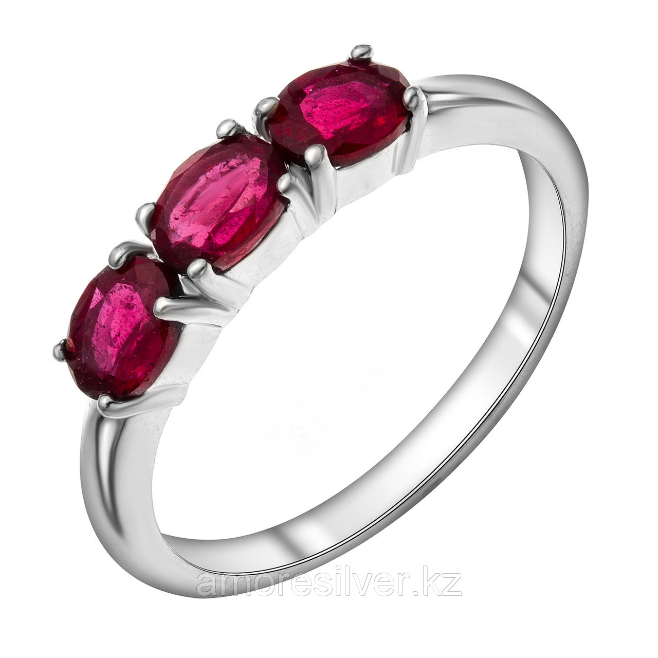 Серебряное кольцо с рубином   Teosa R-DRGR00940-RB размеры - 16 16,5 17,5