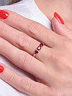 Серебряное кольцо с рубином   Teosa R-DRGR00940-RB размеры - 16 16,5 17,5, фото 2