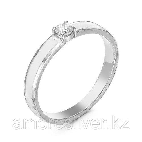 Кольцо Красная Пресня серебро с родием, фианит, классика 2388256Д размеры - 17