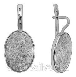 Серьги Невский серебро с родием, сердолик, овал 43160