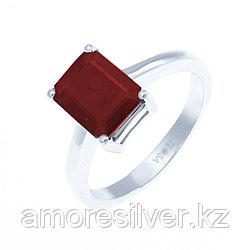 """Кольцо Teosa серебро с родием, рубин нат. (h), """"каратник"""" R-DRGR00555-RB"""
