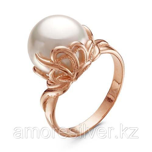 Кольцо Красная Пресня серебро с позолотой, жемчуг имит., ажурное 2367797 размеры - 19