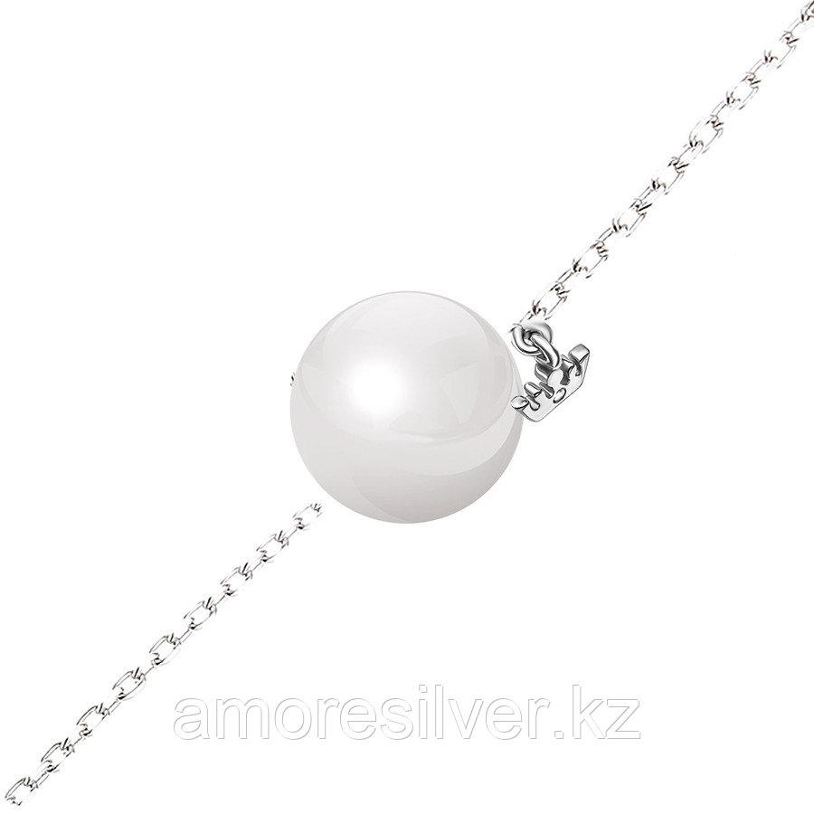 Браслет Teosa серебро с родием, фианит керамика, символы ZCBR-2130-W
