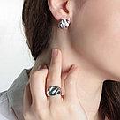 Кольцо Delta серебро с родием, без вставок, геометрия с211122, фото 2