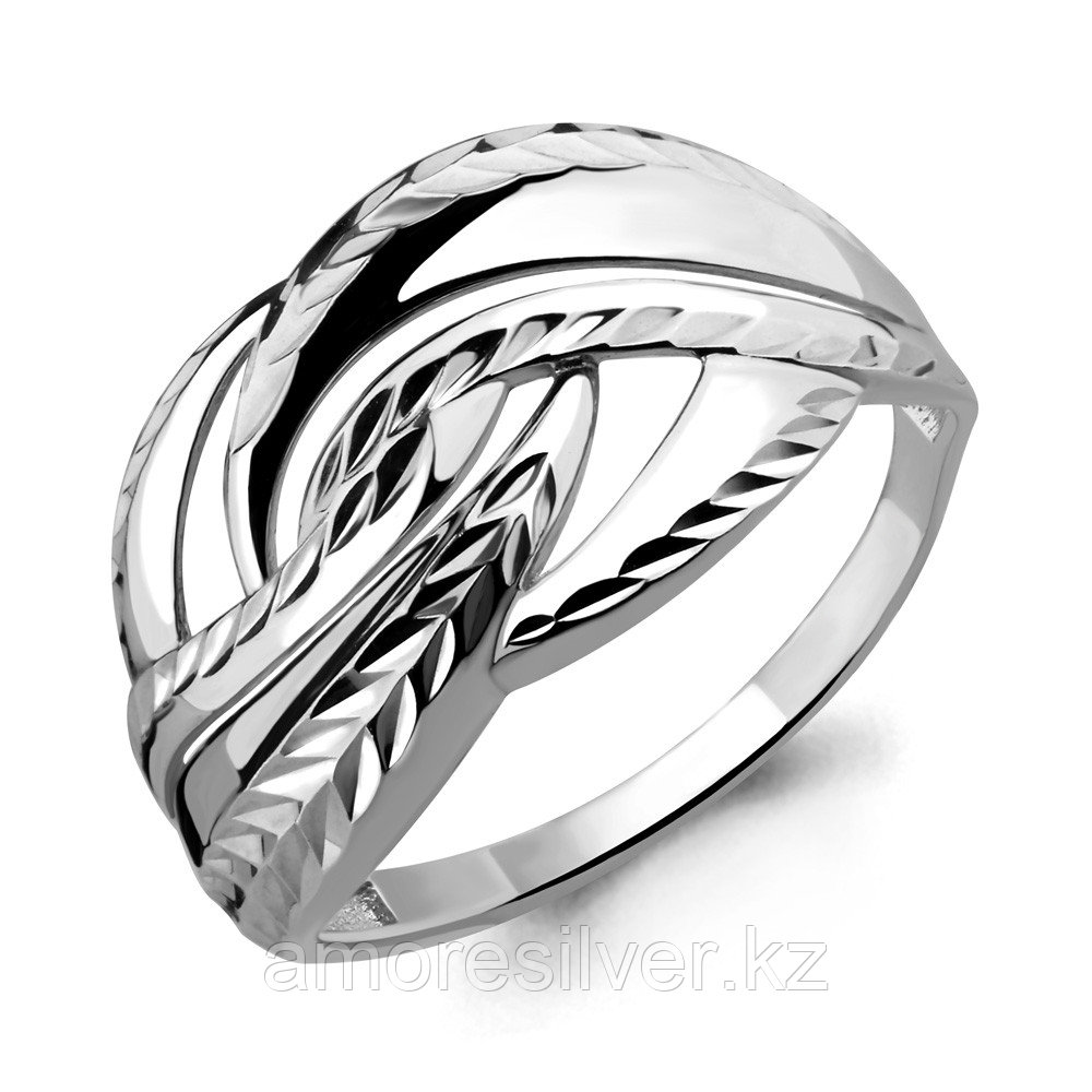 Кольцо Aquamarine серебро с родием, без вставок, геометрия 54566.5 размеры - 18