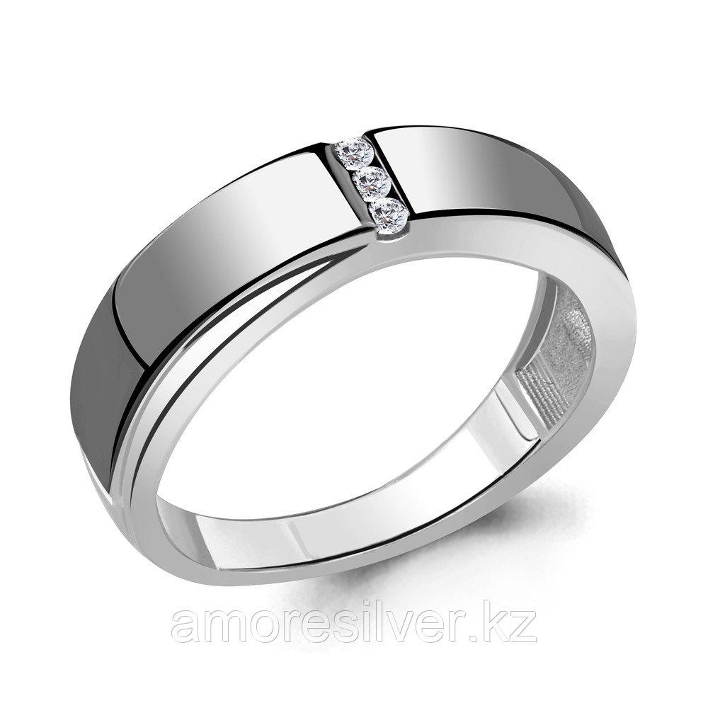 Кольцо Aquamarine серебро с родием, фианит, фантазия 68535А.5 размеры - 17,5 18 18,5