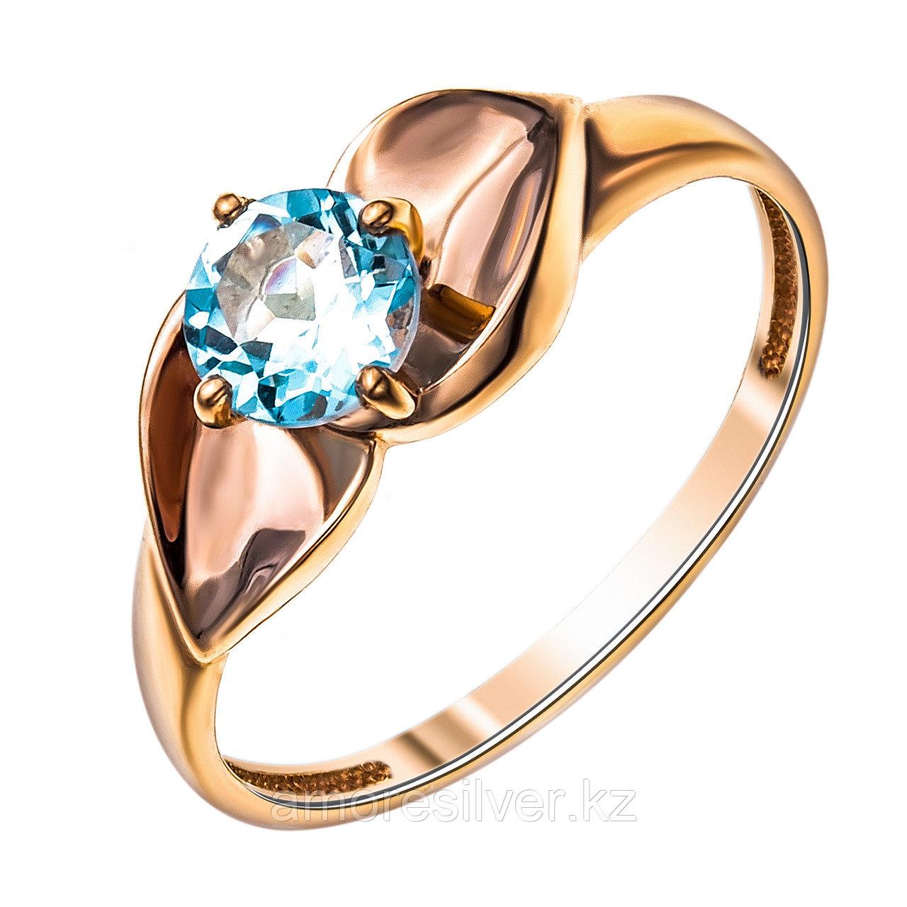 """Кольцо Teosa серебро с позолотой, топаз, """"каратник"""" К629-4212Т"""