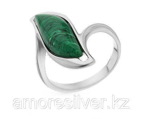 Кольцо Darvin серебро с родием, малахит синт., , модное 920281047aa размеры - 17,5