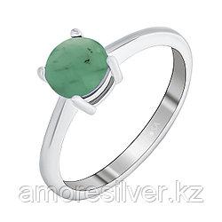 "Кольцо Teosa серебро с родием, изумруд нат. (o), ""каратник"" R-DRGR00556-EM размеры - 16 16,5 17,5"