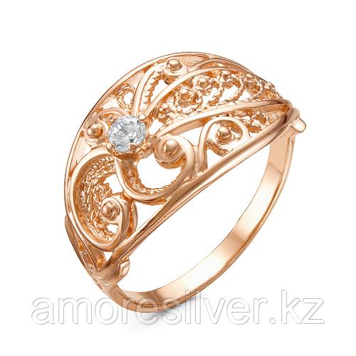 Кольцо Красная Пресня серебро с позолотой, фианит, фантазия 2389995 размеры - 18,5