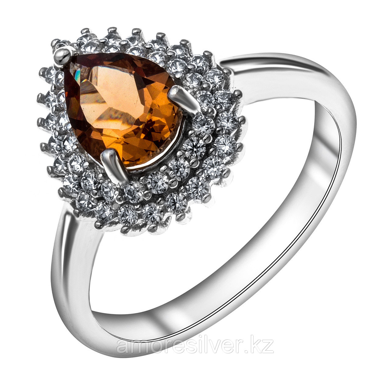 "Кольцо Teosa серебро с родием, ""halo"" R-DRGR00696-SU размеры - 17"
