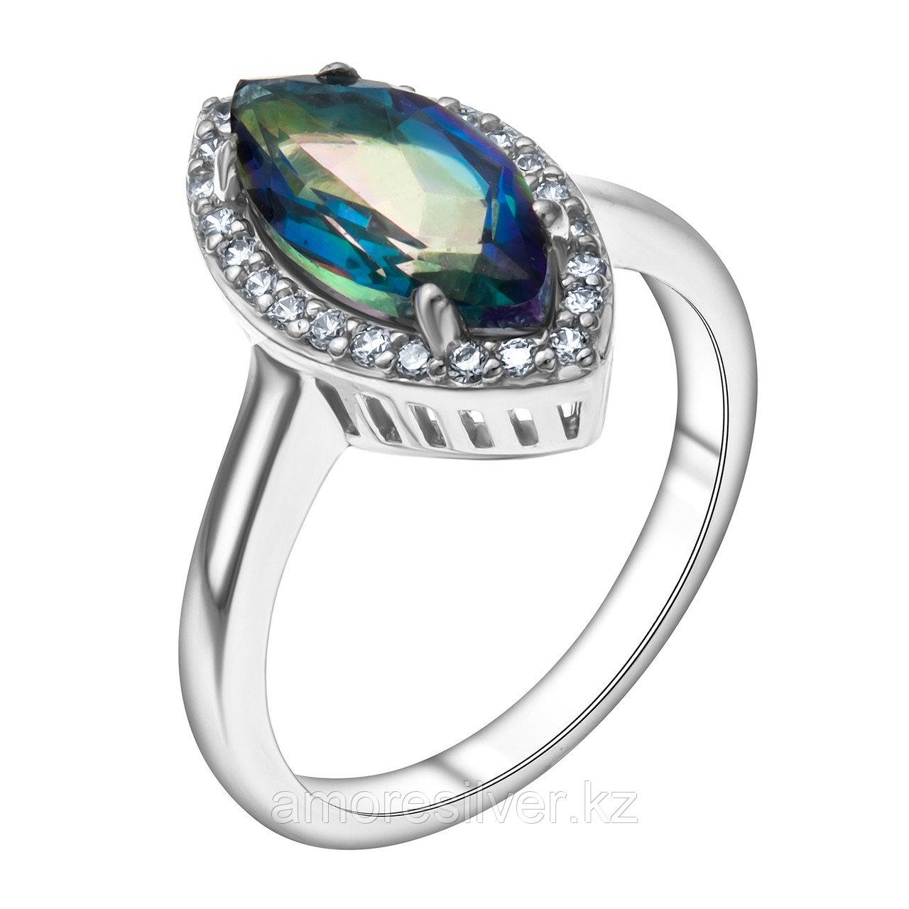 """Кольцо Teosa серебро с родием, """"halo"""" R-DRGR00508-MQ размеры - 17"""