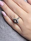 """Кольцо Teosa серебро с родием, """"halo"""" R-DRGR00508-MQ размеры - 17, фото 2"""