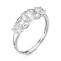 Кольцо MASKOM серебро с родием, фианит синт., дорожка 1000-0077 размеры - 18
