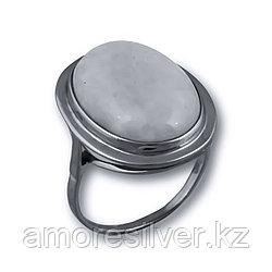 Кольцо  серебро с родием, агат, овал 211342