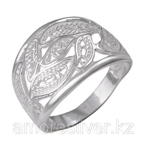 Кольцо Красная Пресня серебро без покрытия, без вставок, ажурное 2302185б размеры - 17 18