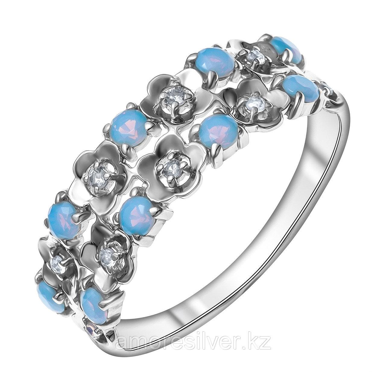 Кольцо из серебра с наношпинелью синт.  Teosa 121-1495-nT-R