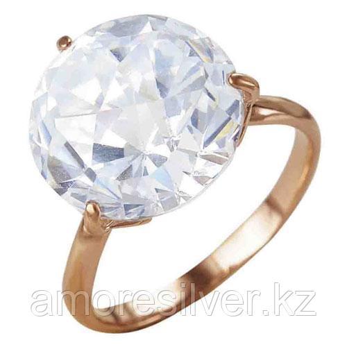 """Кольцо Красная Пресня серебро с позолотой, фианит, """"каратник"""" 2381803 размеры - 17,5"""