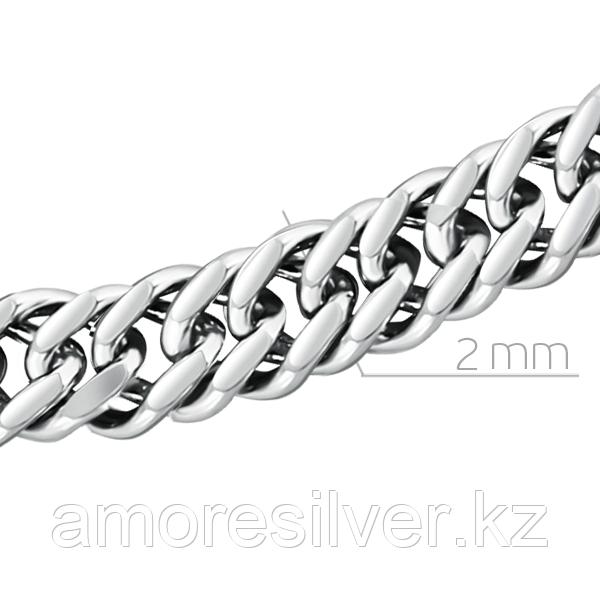 серебро с родием, без вставок, панцирная двойная 81040020150 размеры - 50
