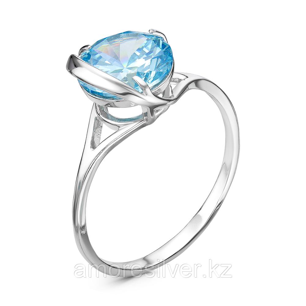 Серебряное кольцо с фианитом  Красная Пресня 23810390Д3 размеры - 18