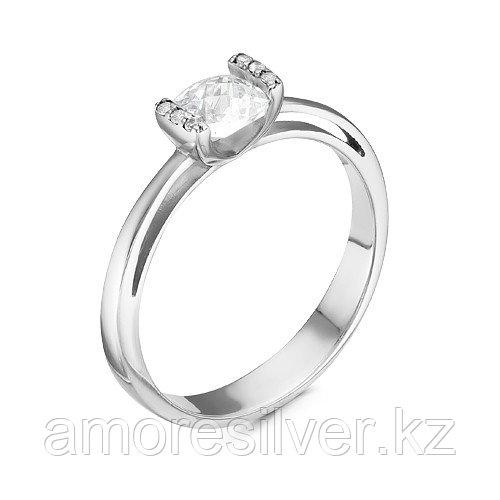 """Кольцо  серебро с родием, фианит синт., """"каратник"""" 1000-0018 размеры - 17,5"""