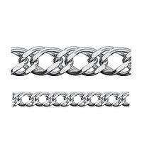 Цепь Адамант серебро с родием, без вставок, ромб двойной Ср925Р-106308070 размеры - 70