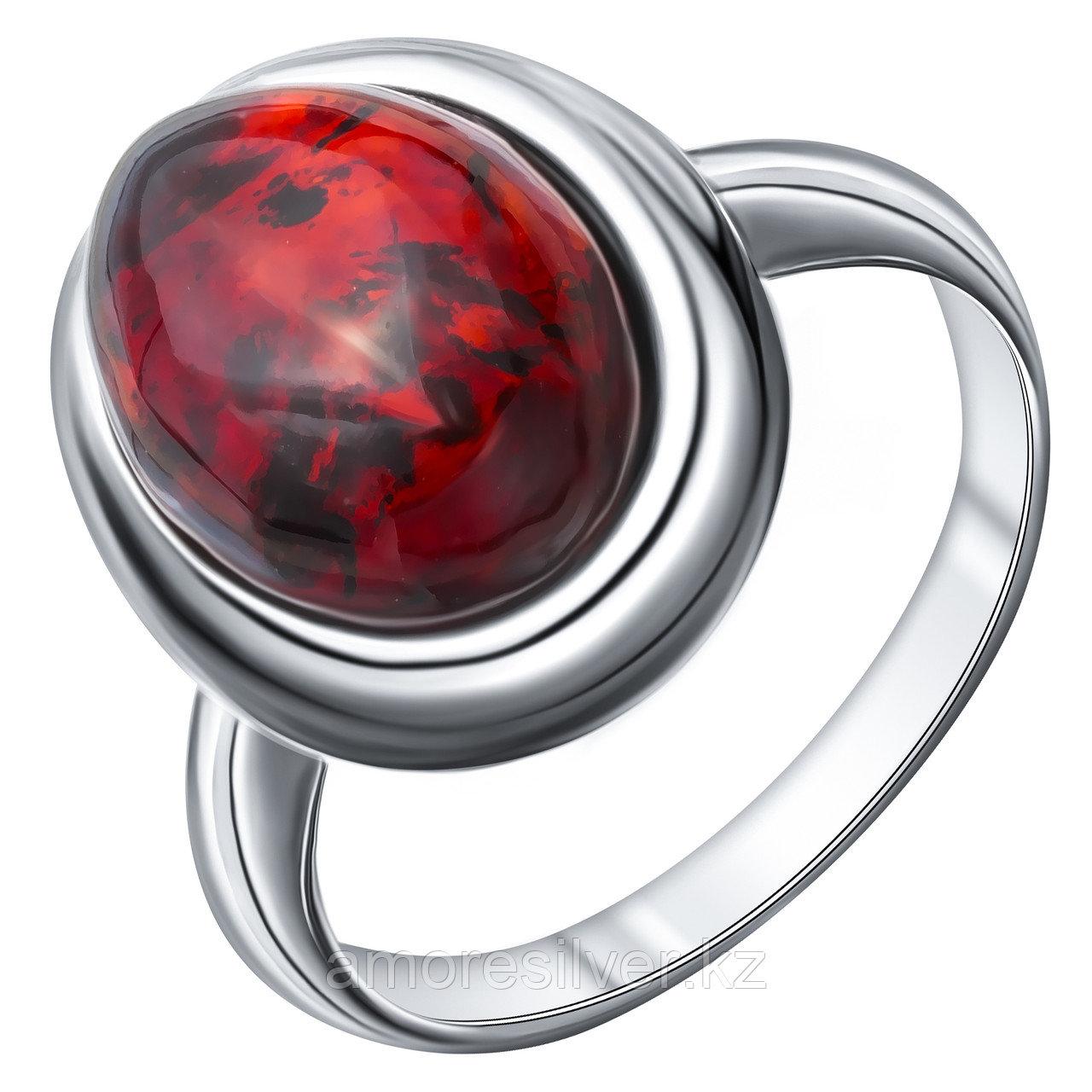 Кольцо Darvin серебро с родием, янтарь коньячный, овал 920041038aa размеры - 17,5 18
