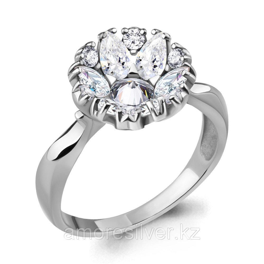Кольцо из серебра с фианитом   Aquamarine 68652А.5 размеры - 17,5 18,5