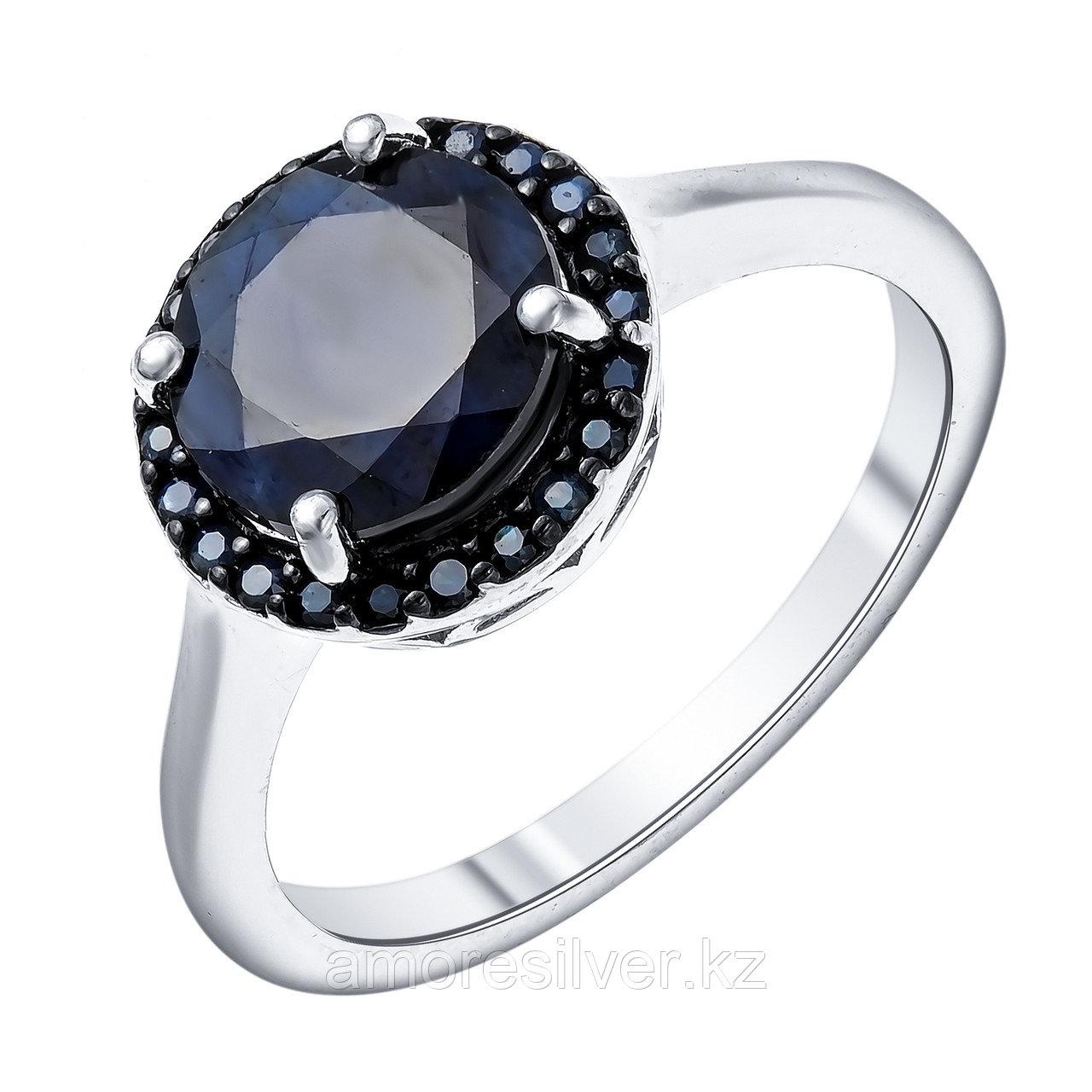 """Кольцо Teosa серебро с родием, сапфир, """"halo"""" R-DRGR00910-SP размеры - 17,5"""