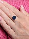 """Кольцо Teosa серебро с родием, сапфир, """"halo"""" R-DRGR00910-SP размеры - 17,5, фото 2"""