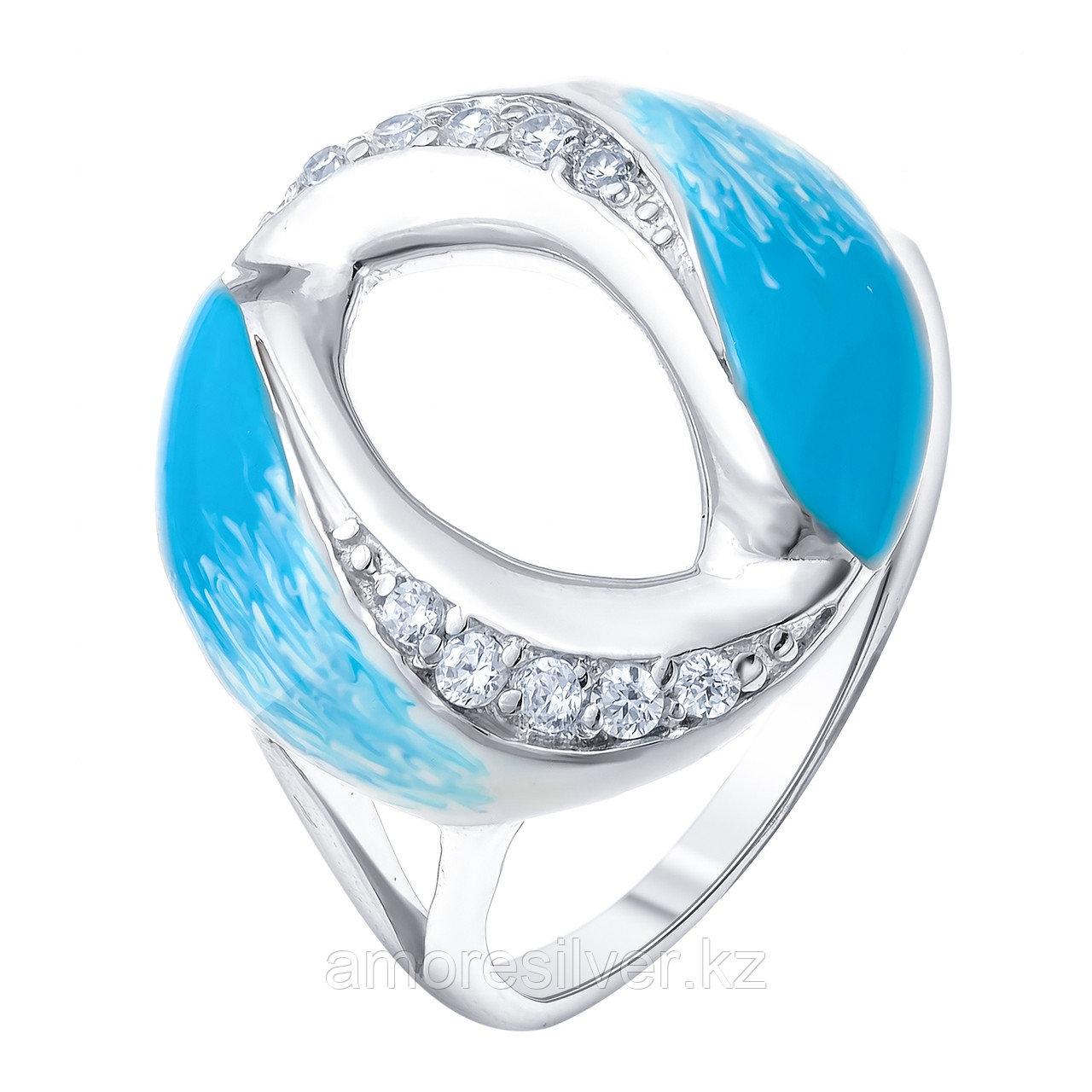 Серебряное кольцо с фианитом   Teosa R1331-CZS-RR-SW размеры - 16,5 17 17,5 18