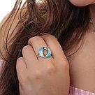 Серебряное кольцо с фианитом   Teosa R1331-CZS-RR-SW размеры - 16,5 17 17,5 18, фото 2