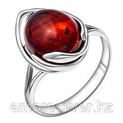 Кольцо Darvin серебро с родием, янтарь коньячный, овал 920041065aa размеры - 18