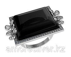 Кольцо Приволжский Ювелир серебро с родием, агат фианит, геометрия 261017 размеры - 18,5