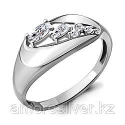 Серебряное кольцо Aquamarine 64772А.5 размеры - 16 17
