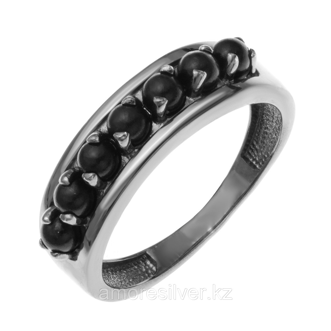 Кольцо Teosa серебро с родием, жемчуг, дорожка 1000-0372-Plts размеры - 17,5